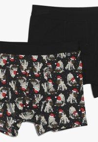 D-XEL - RONAN CHRISTMAS 2 PACK - Panties - black - 4