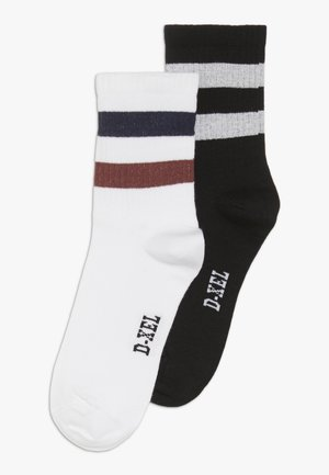 2 PACK - Calcetines - black/white/misty