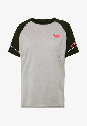ALPINE PRO TEE - Print T-shirt - black out