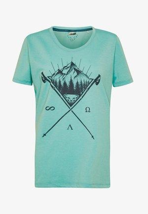 TRANSALPER GRAPHIC  - T-shirt z nadrukiem - silvretta