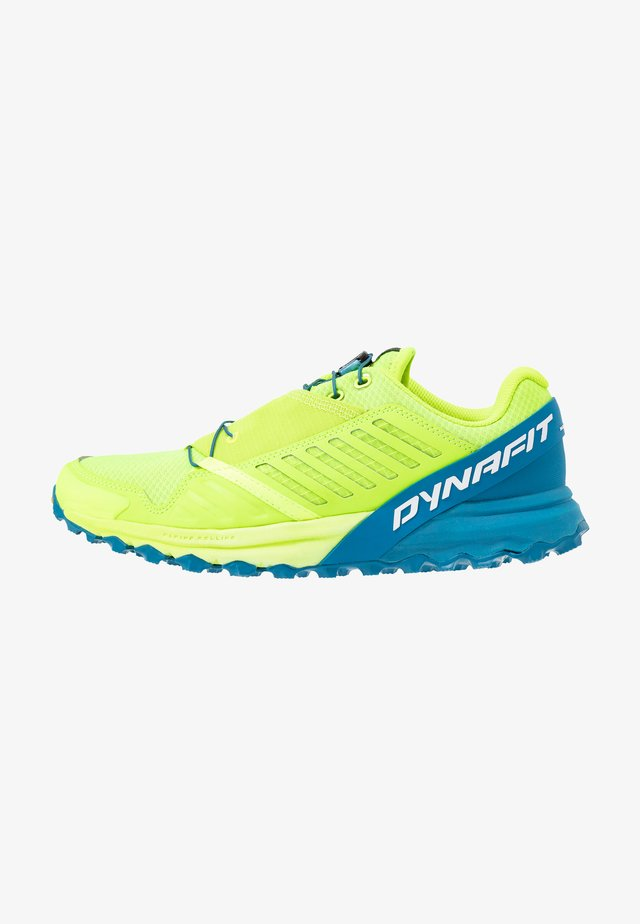 ALPINE PRO - Trail running shoes - fluo yellow/mykonos blue