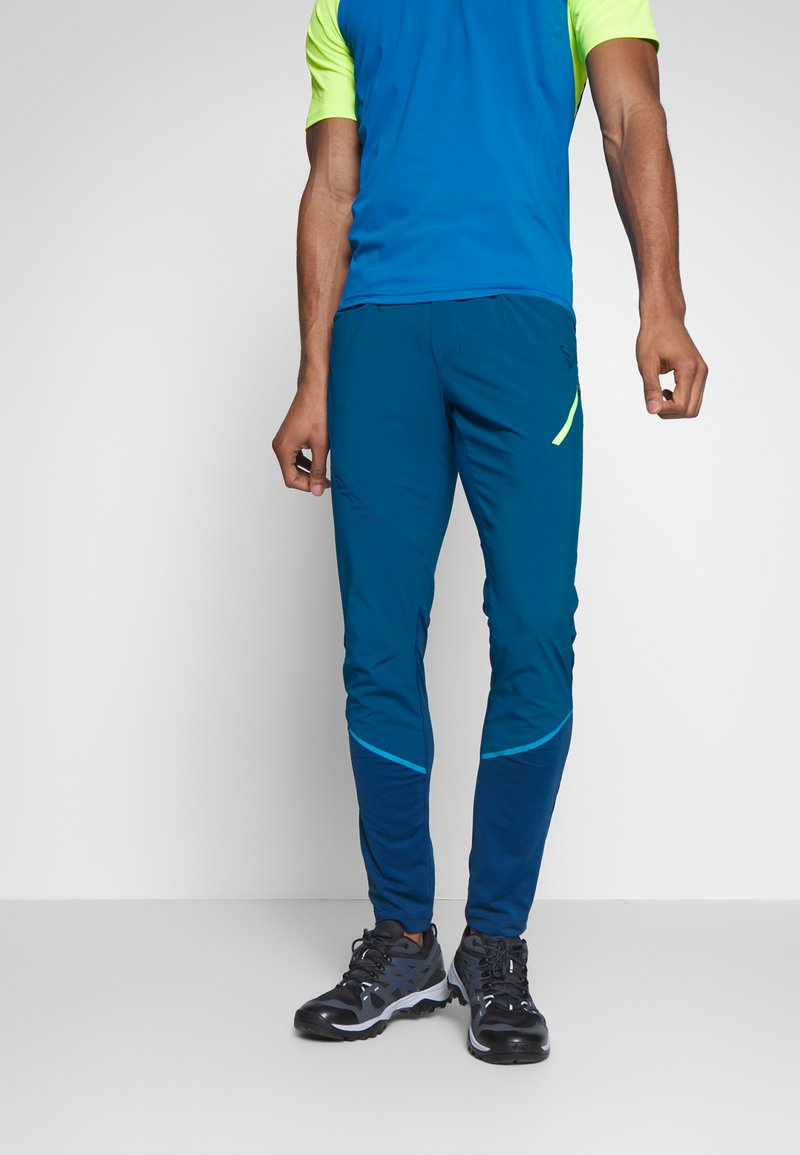 Dynafit - TRANSALPER HYBRID - Trousers - mykonos blue