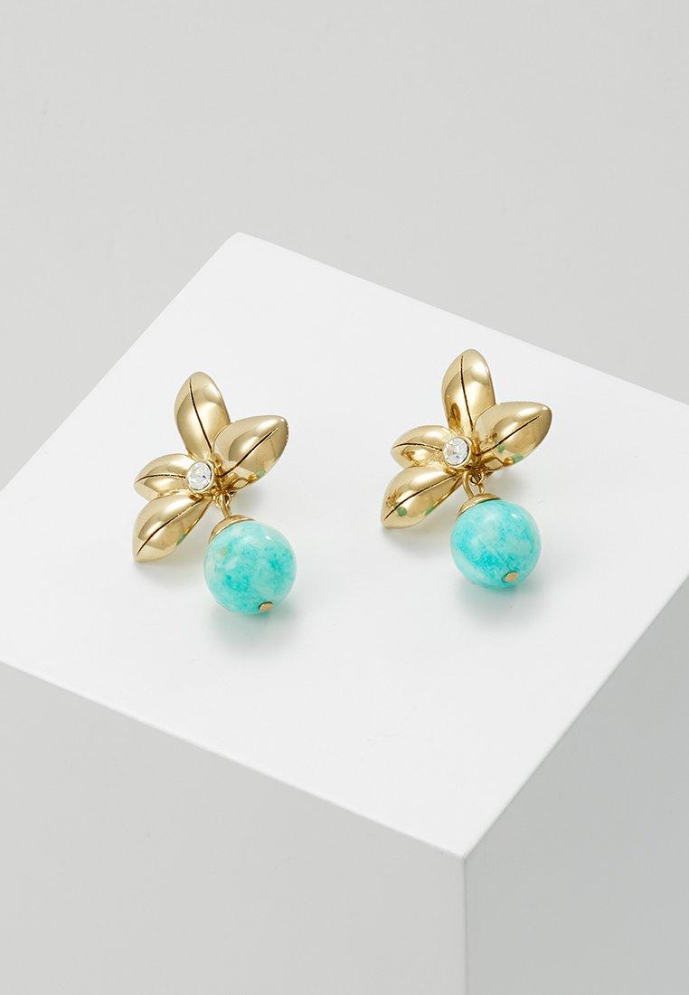 Dyrberg/Kern - YATES AQUA - Pendientes - gold-coloured/turquoise