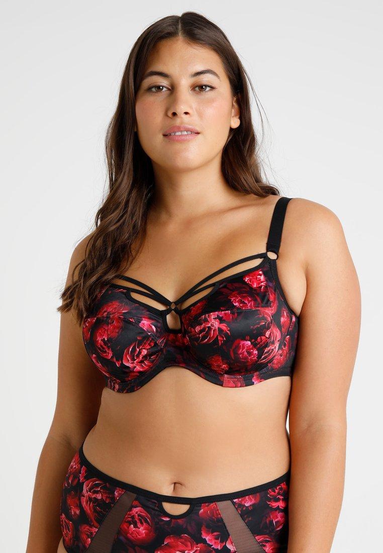 Elomi - SORAYA PLUNGE BRA - Beugel BH - black/red