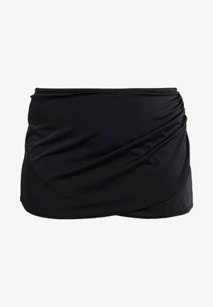 ESSENTIALS WRAP SKIRTED BRIEF - Bikiniunderdel - black