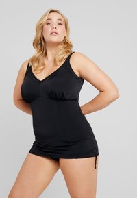 Elomi - ESSENTIALS MOULDED ADJUSTABLE SIDE TANKINI - Bikinitopp - black - 1