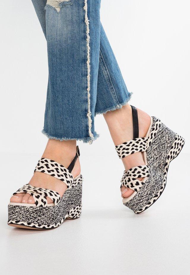 High Heel Sandalette - white/black