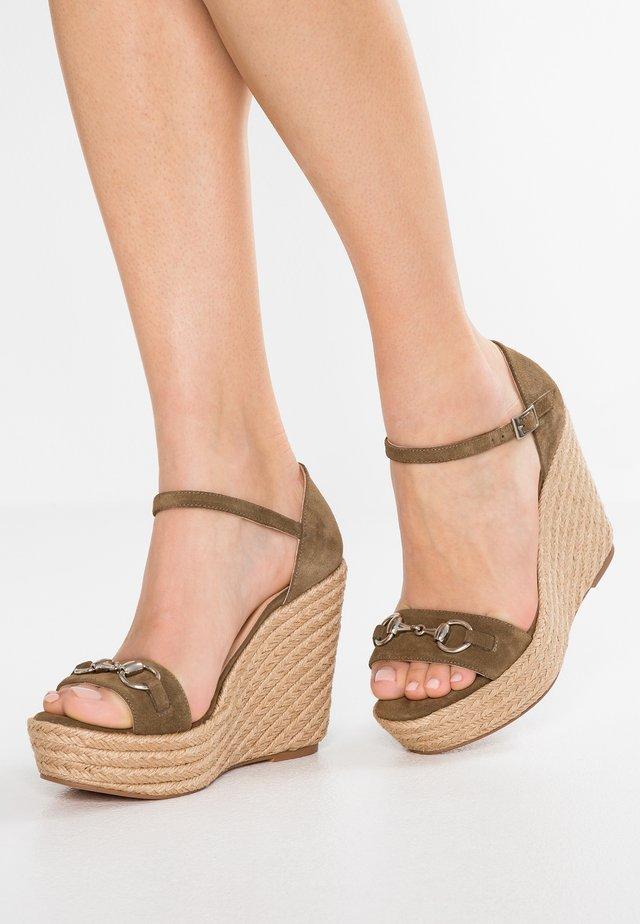 High heeled sandals - afelpado taupe