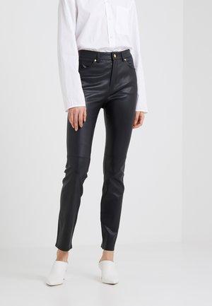 LENIM - Pantalón de cuero - black