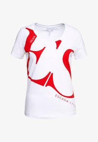 Escada Sport - ZALANDO X ESCADA SPORT - T-shirt con stampa - white with red print - 4