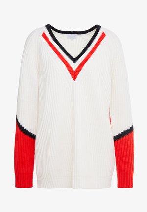 SKALLA - Stickad tröja - offwhite