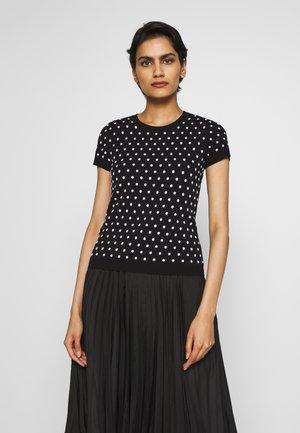 SALARIA - T-shirt con stampa - black