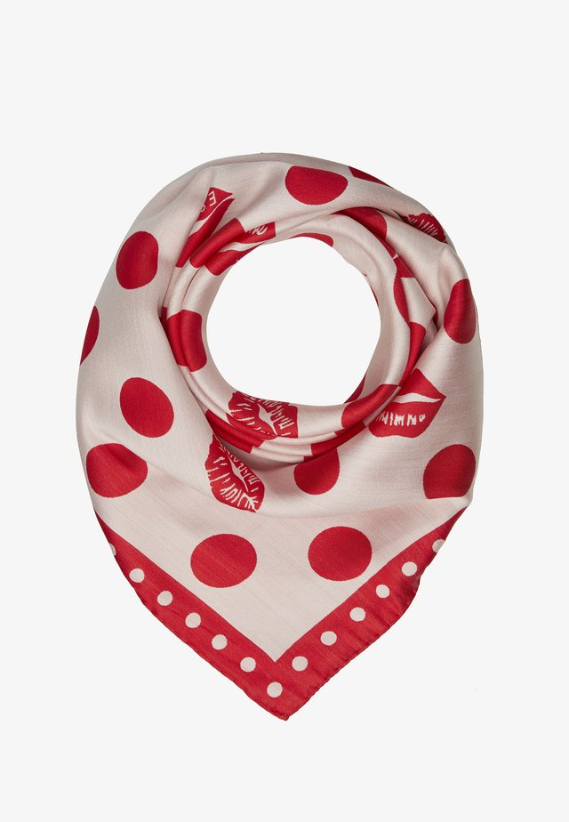 Halsdoek - white/red