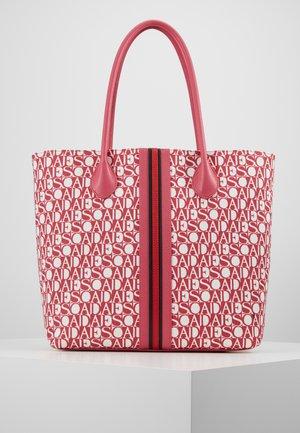 CANVAS SHOPPER - Shopping bag - red