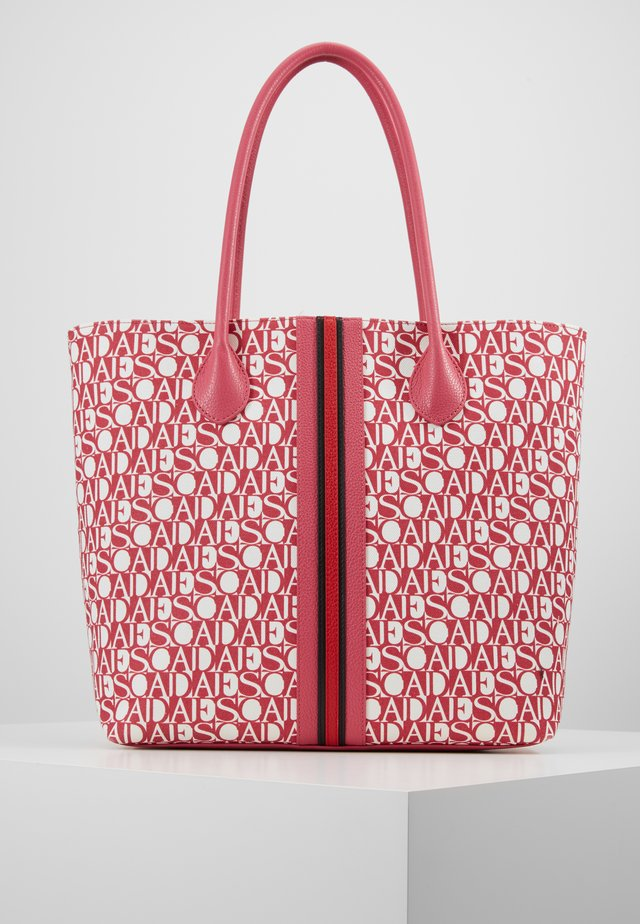 CANVAS SHOPPER - Tote bag - red
