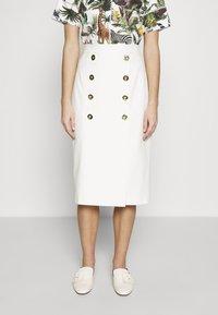 Escada - RIBA - Pouzdrová sukně - off-white - 0