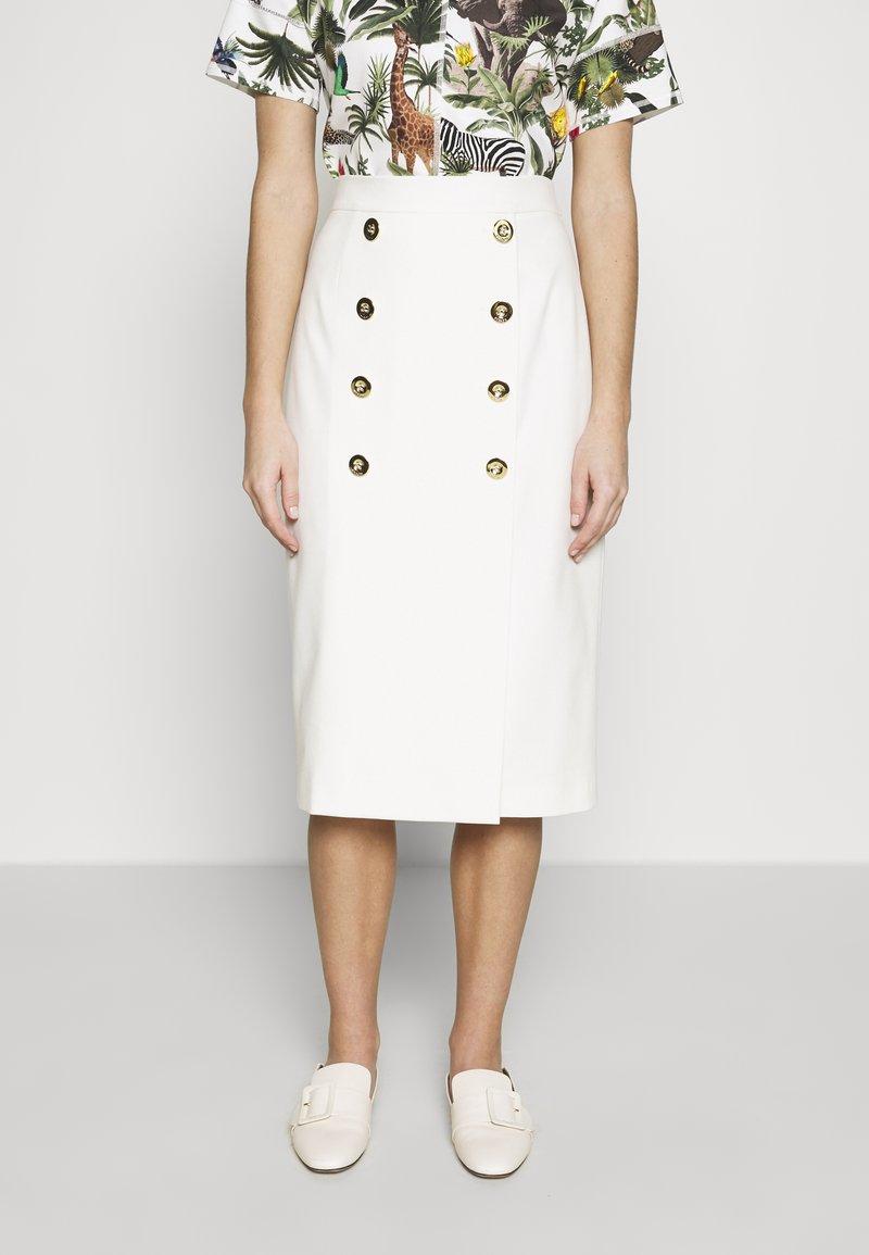 Escada - RIBA - Pouzdrová sukně - off-white