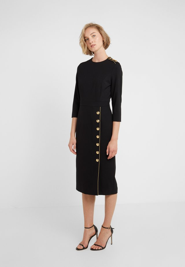 DHENIA - Shift dress - black