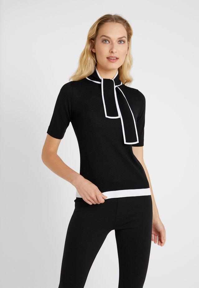 SIBILLE - Print T-shirt - black