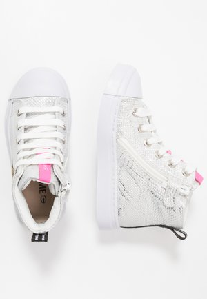TRAINER - Sneaker high - silver