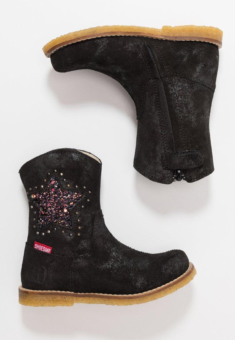 Shoesme - Kowbojki i obuwie motocyklowe - doha preto black
