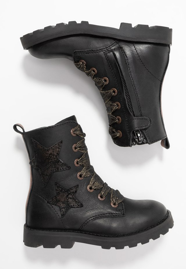 TANK - Lace-up boots - black