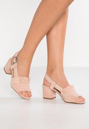 ROMEO - Sandaalit nilkkaremmillä - blush