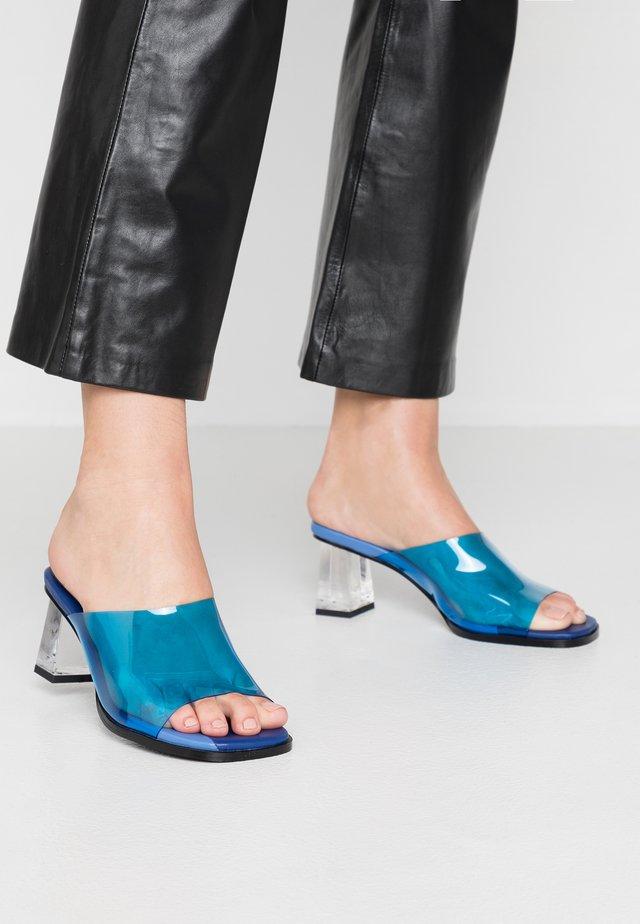 RITA - Pantolette hoch - blue