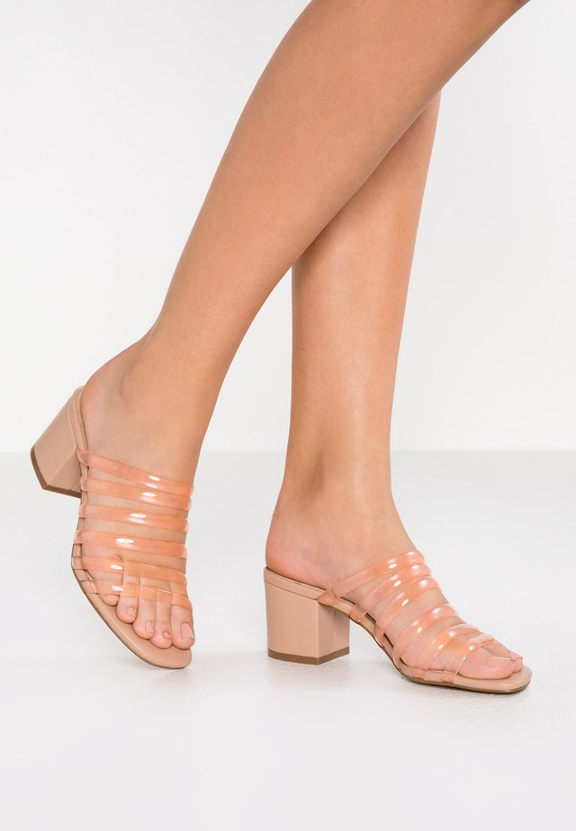 ELENA - Heeled mules - blush