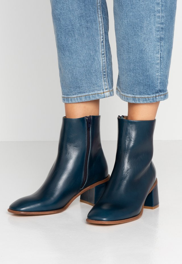 STINA - Classic ankle boots - blue