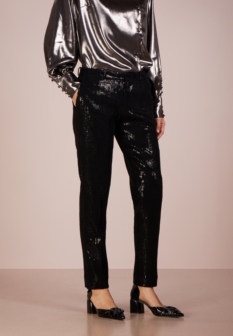 Each x Other - SEQUINED PALATE TUXEDO TROUSERS - Bukser - black