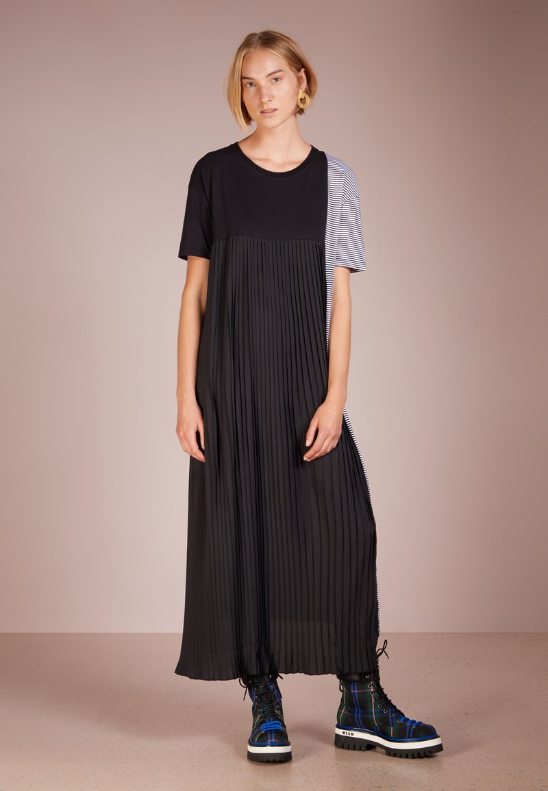 Each x Other - HYBRID PLEATED AND MARINER DRESS - Maxi dress - black