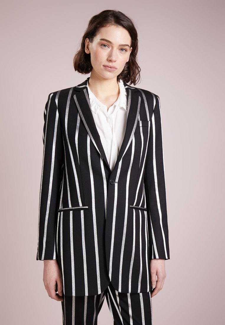 Each x Other - STRIPE JACKET - Blazere - black/silver