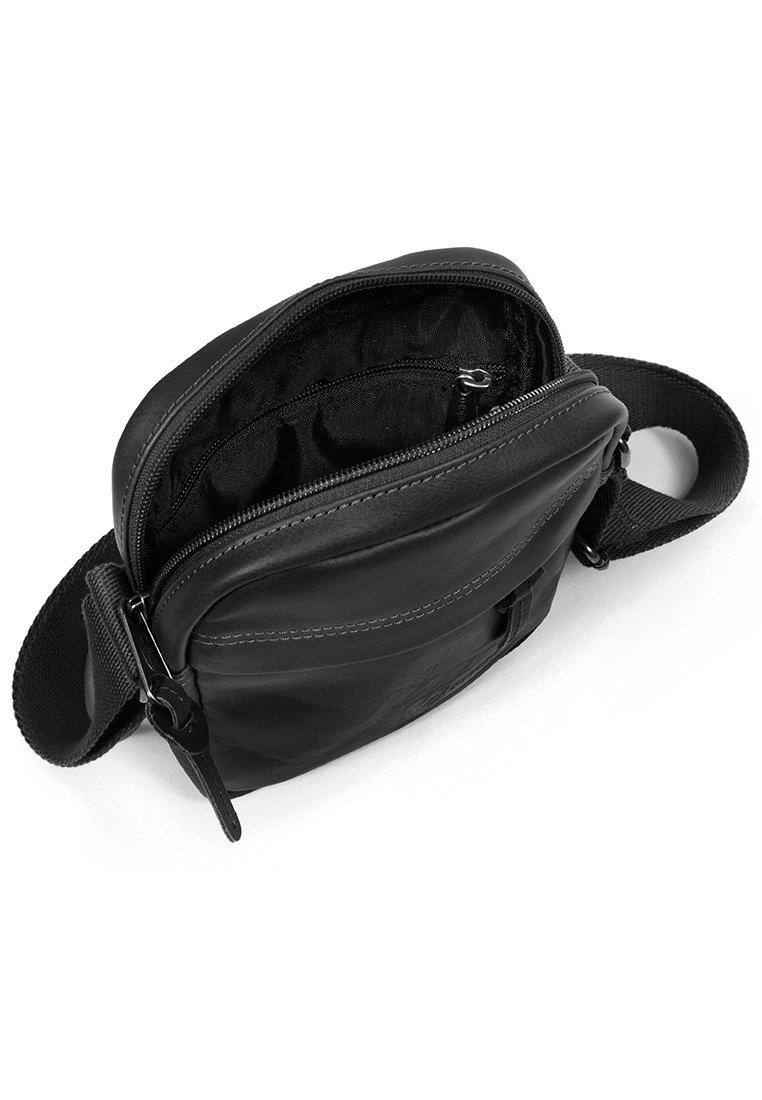Eastpak The One/leather - Axelremsväska Black Ink Leather
