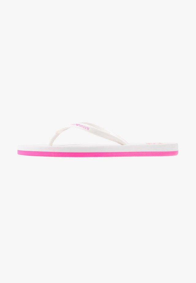 Pool shoes - white/fuxia