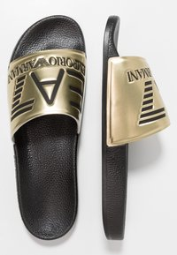 EA7 Emporio Armani - Ciabattine - shiny gold/black - 1