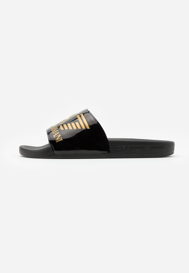 Sandaler - shiny black/gold