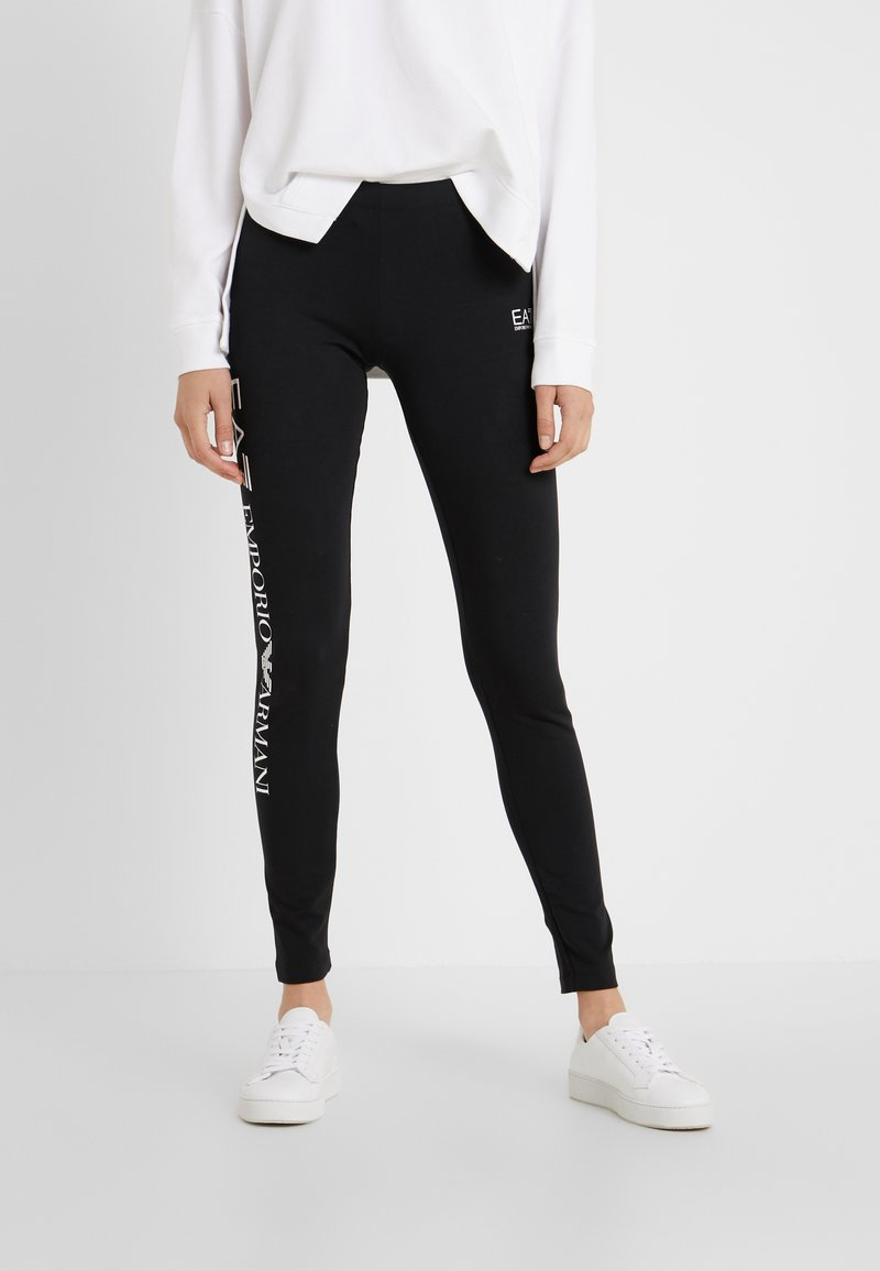 EA7 Emporio Armani - Leggings - Trousers - black/white