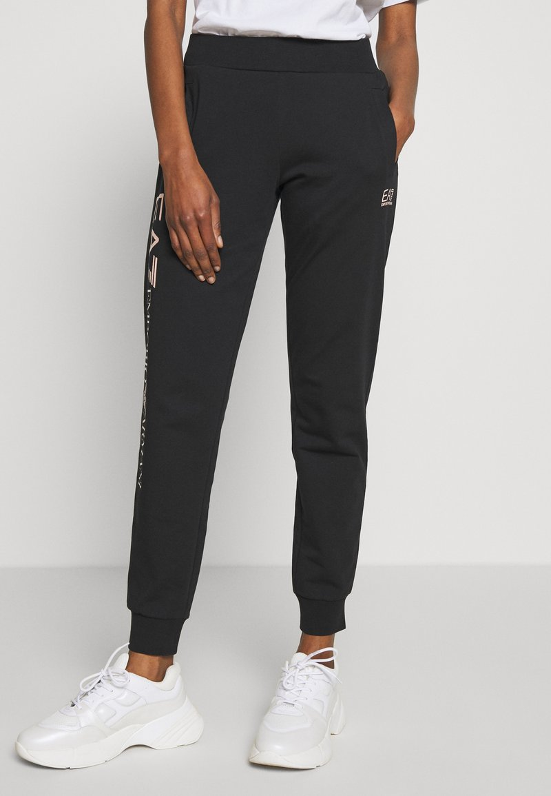 EA7 Emporio Armani - TROUSER - Tracksuit bottoms - black peach