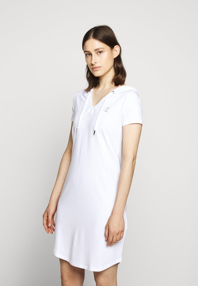 DRESS - Žerzejové šaty - white