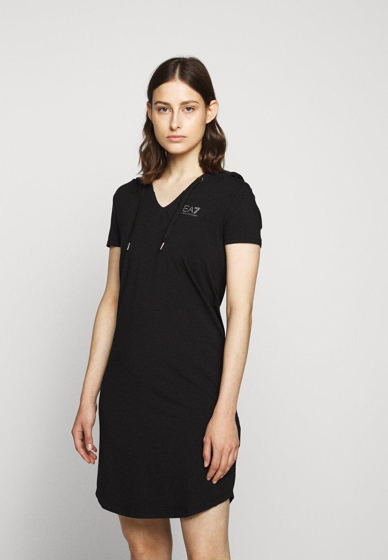 EA7 Emporio Armani - DRESS - Vestito di maglina - black