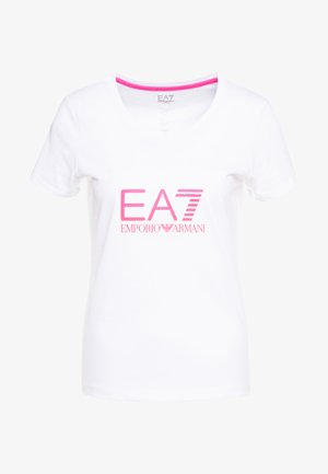 NATURAL VENTUS - T-shirt con stampa - white / neon pink