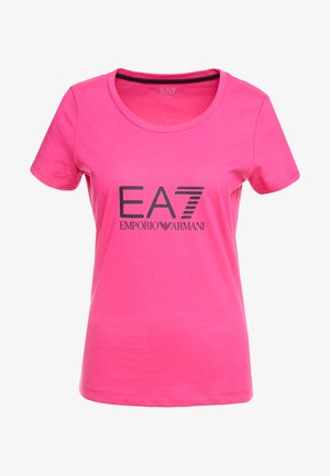 NATURAL VENTUS - Print T-shirt - neon pink / black