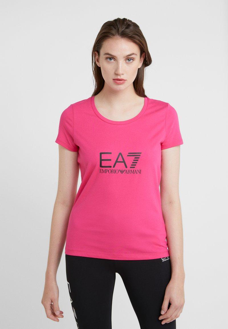 EA7 Emporio Armani - NATURAL VENTUS - T-Shirt print - neon pink / black