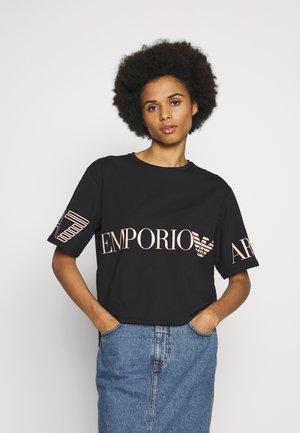 T-Shirt print - black peach