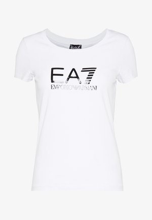 Print T-shirt - white black