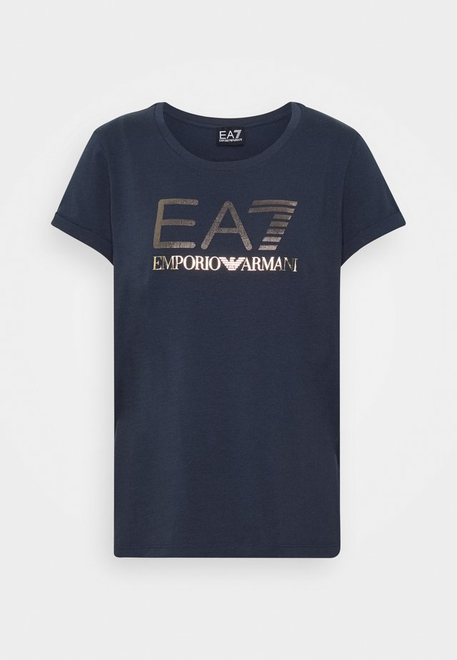 Print T-shirt - blue nights