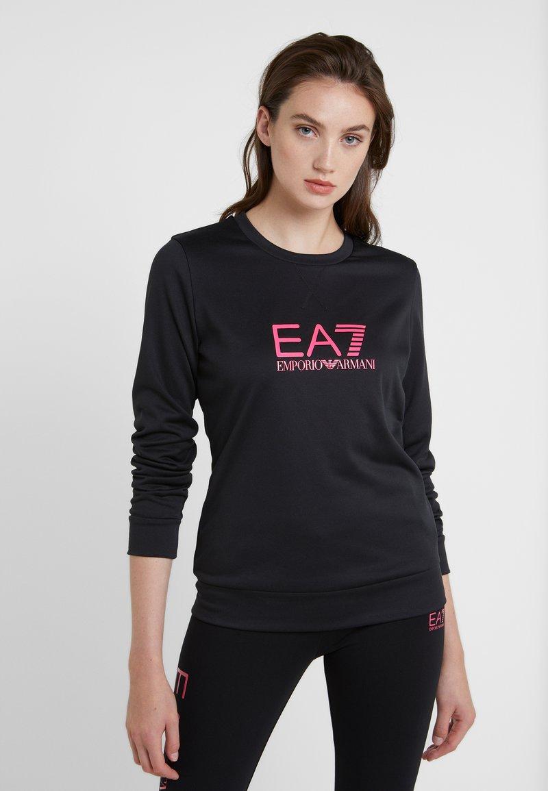 EA7 Emporio Armani - TRAIN LOGO SERIES - Sweatshirt - black / neon pink