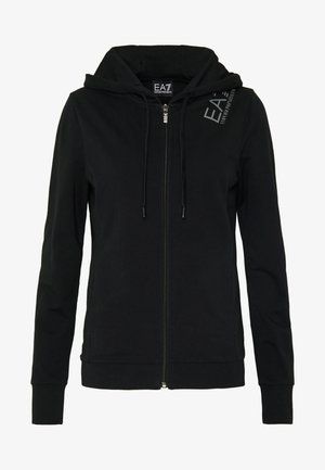Zip-up hoodie - black/grey