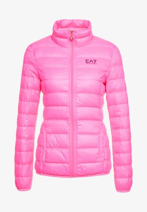 TRAIN CORE LADY - Down jacket - neon pink / black